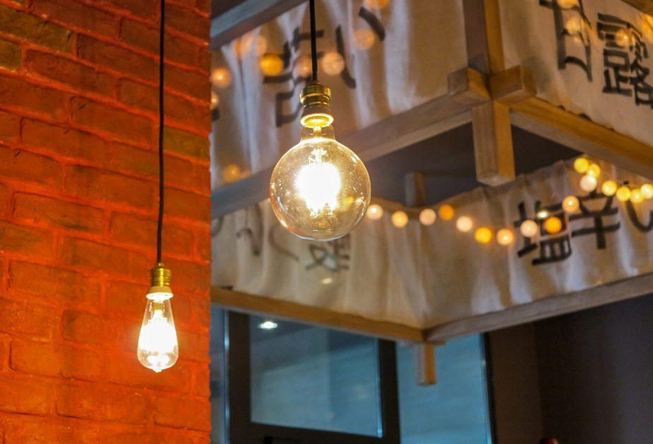 diseno de lamparas restaurante japones